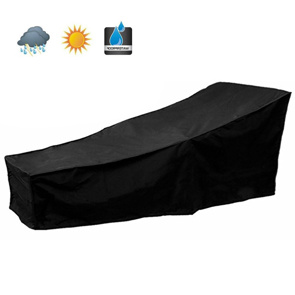 """Scorpiuse Outdoor Lounge Chair Cover Durable Patio Chaise Lounge Cover Protector Water Resistant And Lightweight 82""""Lx30""""Wx31""""H"""