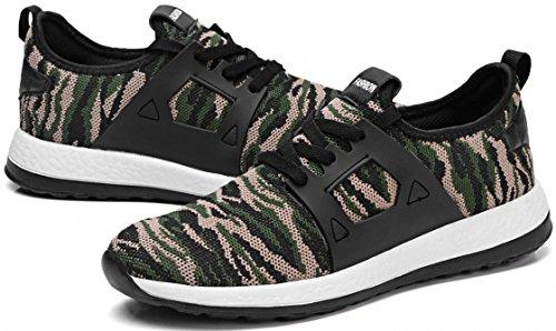 Weweya Beiläufige Schuhe Frühlings Sommer Art und Weisemann Schuhe Hombre Sneaker Armee Grün Männer Beschuht Beiläufige Tarnungs Schuhe 2-Tarnung