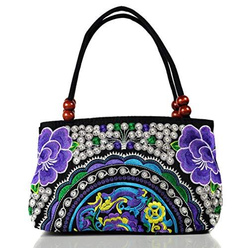 Rxf Mujer 4 color Bordado Bolso Tamaño De 7 Metro Hombro qEaZqrw