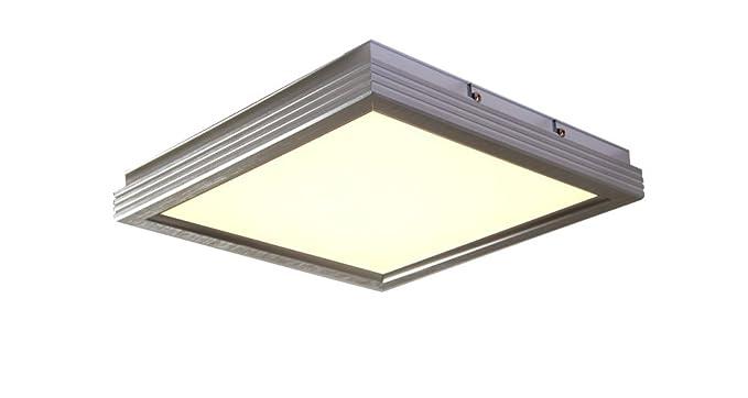 Plafoniera Quadrata Led : Led plafoniera quadrata in alluminio spazzolato lampadario new