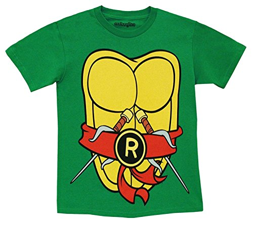 TMNT Teenage Mutant Ninja Turtles Costume Green Toddler T-shirt (Toddler 7T, Raphael -
