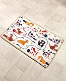 The Lakeside Collection Playful Dogs Bathroom Rug offers