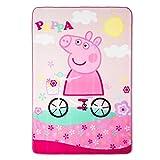 Peppa Pig Twin Sized Plush Blanket - 157 cm x 229 cm