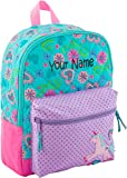 Personalized Stephen Joseph Unicorn All Over Print Quilted Rucksack with Embroidered Name