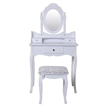 fds bedroom dressing table set adjustable oval mirror stool white rh amazon co uk bedroom sets including dressing table Wooden Dressing Table