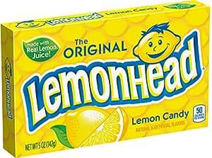 Lemonhead Hard Candy, Lemon, 5 Ounce Theatre Box, 12 pack