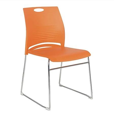 4 Sedie Arancioni con braccioli per interni bar ristorante