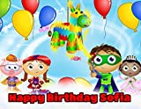 Super Why! Edible Image Photo Sugar Frosting Icing Cake Topper Sheet Personalized Custom Customized Birthday Party - 1/4 Sheet - 77243