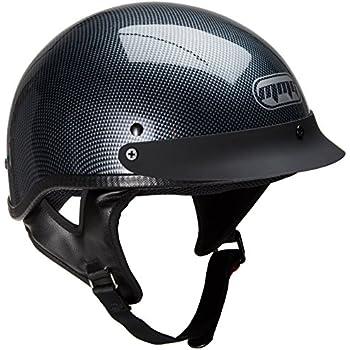 c29fcb9a Amazon.com: Motorcycle Half Helmet Cruiser DOT Street Legal - Carbon ...