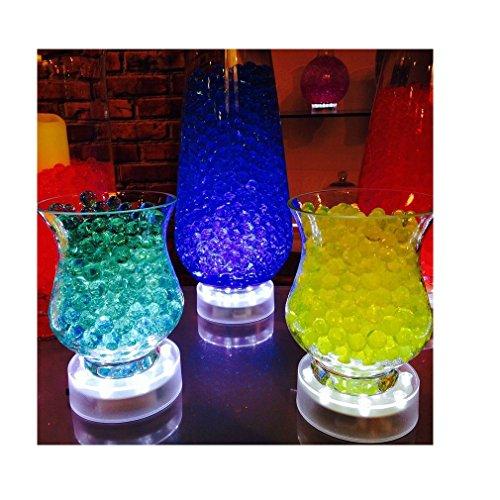 SLBSTORES 4 Inch Acrylic Round LED Vase  - Diamond Round Vases Shopping Results