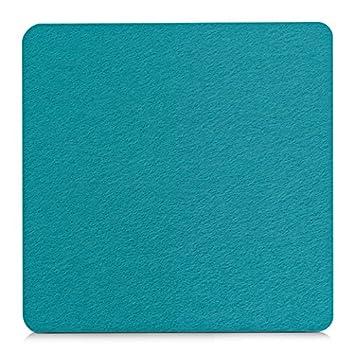 Unbekannt Filz Untersetzer 20x20 Cm Turkis Petrol Blau Amazon De