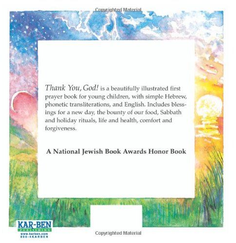 Thank You God A Jewish Childs Book Of Prayers English And Hebrew