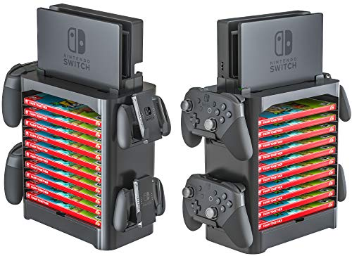 Skywin Game Storage Tower for Nintendo Switch - Game Disk Rack and Controller Organizer Compatible with Nintendo Switch… 2