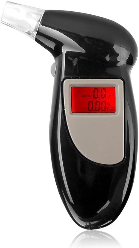 Testeur dalcool Embout buccal de remplacement LCD num/érique R/étro-/éclairage Porte-cl/és Analyseur dhaleine