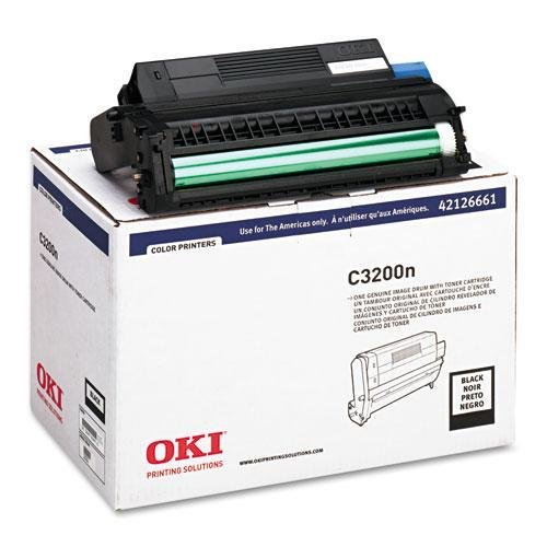 - OKIDATA black image drum w/toner for c3200 42126661