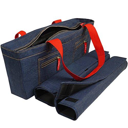 NEW! - Empty Mahjong Bag - Denim Soft Bag by Linda Li - Empty Bag Only by American-Wholesaler Inc.