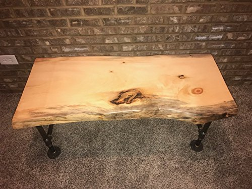 Industrial Pipe and Wood Coffee Table Live Edge Rustic Vintage (Unfinished)