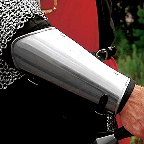 NAUTICALMART Medieval Steel Vambraces Arm Armor Metallic One Size by NAUTICALMART