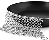 Cast Iron Cleaner 7 inches Stainless Steel Chainmail Scrubber Cleaner.