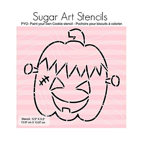 Halloween pumpkin PYO cookie stencil SA0025 -