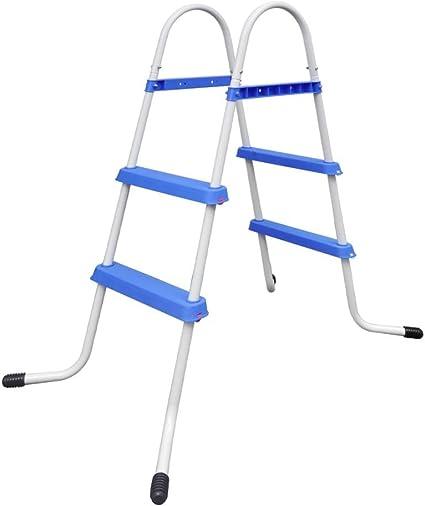 vidaXL Escalera Piscina Peldaños Antideslizantes 86,5cm Escalinata Jacuzzi SPA: Amazon.es: Hogar