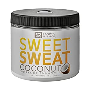 Sweet Sweat Coconut 'Workout Enhancer' Gel - Made with Extra Virgin Organic Coconut Oil; 'XL' Jar 13.5oz.