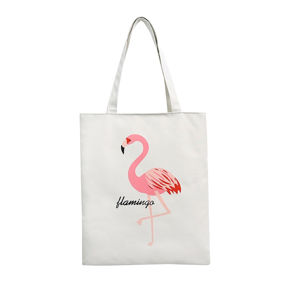 pu ran-- Femme Flamingo Grande contenance sur Toile Shopping Sac à Bandoulière Voyage Sac à Main Tote