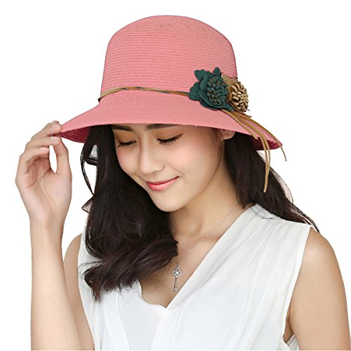 WITERY Women Outdoor Wide Brim Flap Sun Hats Cycling Fishing Full Protection Cotton Hat Cap Headwear Pink