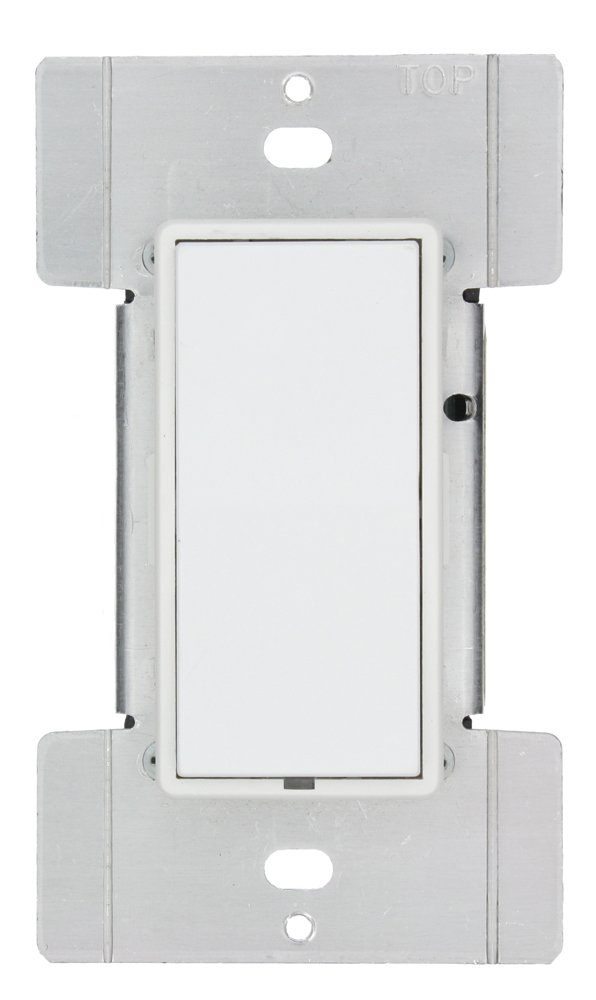 Leviton HXC1A-1TW DHC 1 Address, All On/All Off Wall Mounted Switch, Green Line, 2-Way Communication, White by Leviton