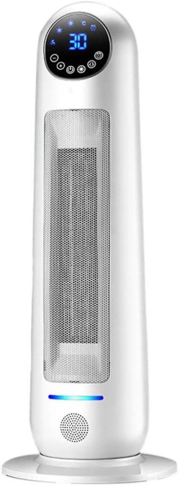 Termoventilatore In Ceramica 2200 W Elettrico Con Termostato 3 Impostazioni Di Calore Portatile Indipendente Con Funzione Di Protezione Termica Di Sicurezza Freddo E Caldo,White-Remotecontrol