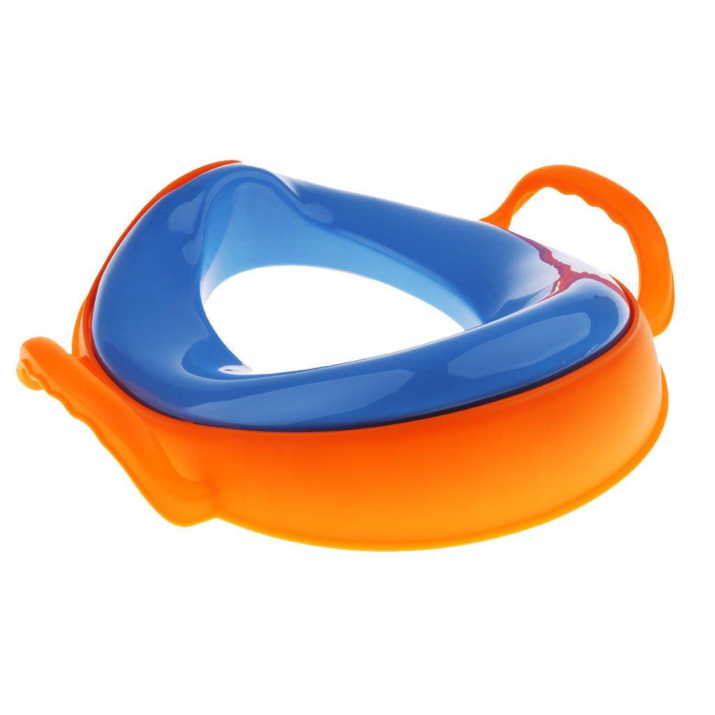 Blau MagiDeal Kinder Jungen M/ädchen Toilettensitz WC Trainer Toiletten-Sitz Toilettentrainer Toilette T/öpfchen