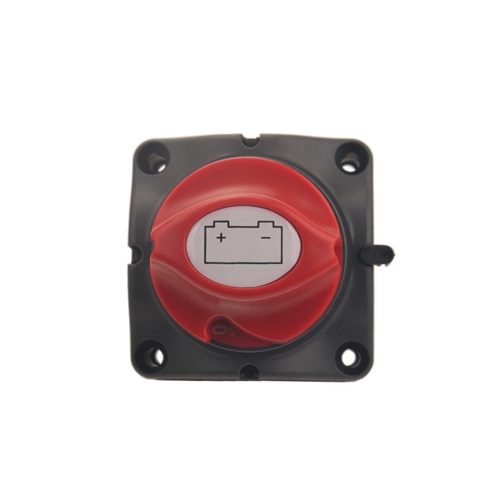 Dewhel Battery Switches Battery Disconnect Isolator Master Switch 12-50V Battery Power Cut On//Off Master Switch Disconnect Isolator for Marine Boat Car Vehicles RV