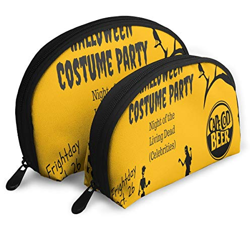 ElephantAN Halloween Costume Party Multifunction Shell Portable Bags,Storage Bag,Buggy Bag,Travel Cosmetic Bags,Small Makeup Clutch,Pouch Cosmetic,Toiletries Organizer Bag