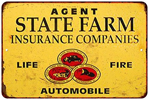 Auto  Fire  And Life State Farm Insurance Reproduction Sign 8X12 8122209