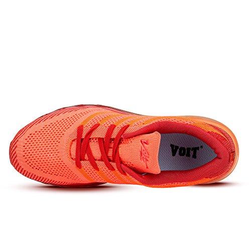 VOITCN Mens Leichte Luftpolster Outdoor Sport Laufschuhe Sportlich Casual Sneakers Orange