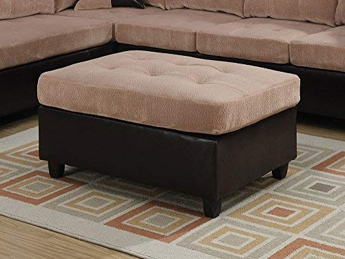 Amazon.com: Acme Muebles 51232 Milano Otomano, Camel ...