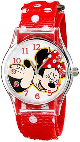 Disney Kids' W001695 Mickey Mouse, Minnie Mouse Analog Display Analog Quartz Red Watch