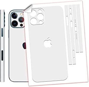 SopiGuard Sticker Skin for iPhone 12 Pro MAX Precision Edge-to-Edge Back and Sides Vinyl Decal (3M Matte White)