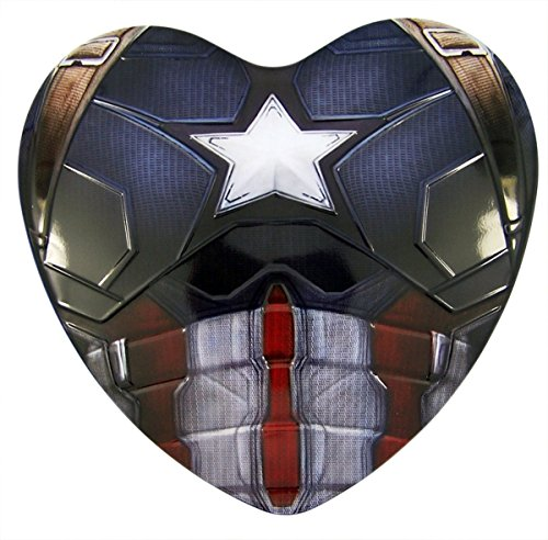 Marvel Capatin America Heart Tin with Chocolates