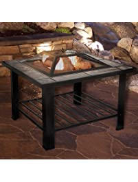 Fire Pit Set, Wood Burning Pit   Includes Screen, Cover And Log Poker