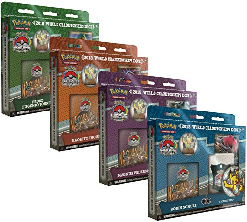 Pokemon TCG: 2018 World Championship Deck Set of All 4 Champion Decks - Robin Schulz, Pedro Torres, Magnus Pedersen, and Naohito Inoue ()