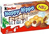 Kinder 'Happy Hippo' Cocoa Cream Biscuits : Pack of 5 Biscuits (Pack of 3)