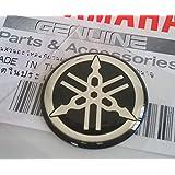 YAMAHA TUNING Emblem Sticker Logo / BLACK - CHROME /More size to select/ BODY GEL Resin Self-adhesive Moto / Jet Ski / ATV / Snowmobile (30mm.)