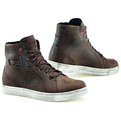 TCX 9402W Mens Street Ace Street Motorcycle Boots - Dakar Brown Size Eu 44/Us (Chrome Heel Toe Boots)