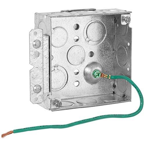 hubbell-raco 189hs cuadrado caja con Pigtail y soporte, 1 - 1/2