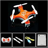 FQ777-124 Micro Pocket Drone 4CH 6Axis Gyro Switchable Controller RC Quadcopter (Cheerson CX-10#Orange)