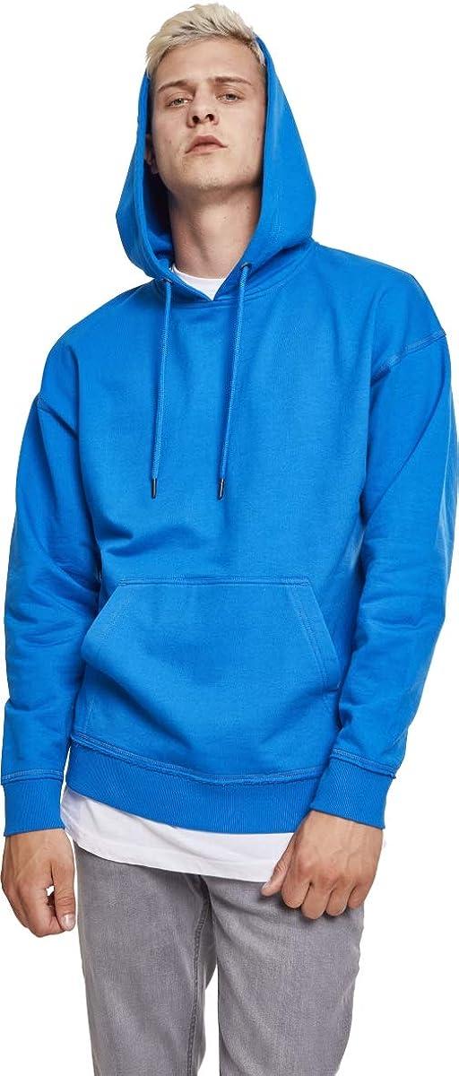 Urban Classics Herren Kapuzenpullover Oversized Sweat Hoodie Blau (Brightblue)
