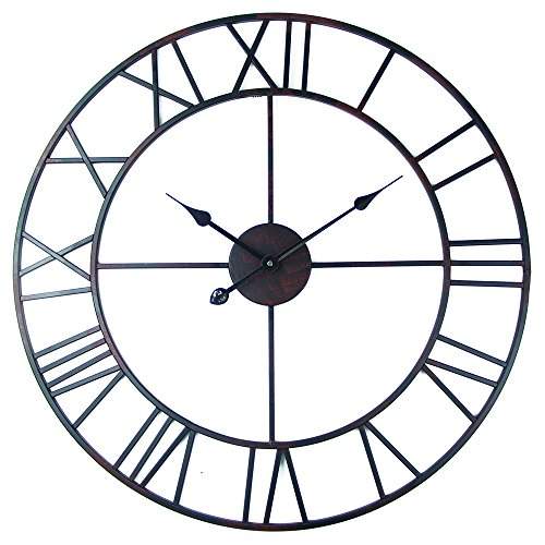 Metal wall clocks www top clocks com Oversized metal wall clocks