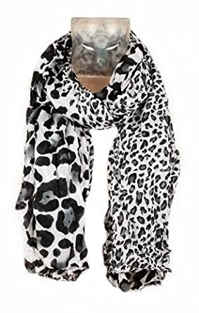 3f8fc91d799 Foulard Echarpe Cheche Jaguar Leopard - Coloris Gris Noir Blanc - Tendance  Collection Printemps Eté 2013