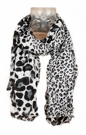 595ac4db596 Foulard Echarpe Cheche Jaguar Leopard - Coloris Gris Noir Blanc - Tendance  Collection Printemps Eté 2013 - 160 cm x 75 cm  Amazon.fr  Vêtements et ...